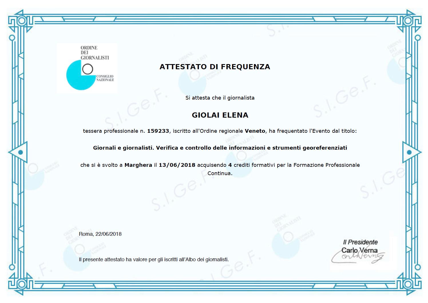 Giornali e giornalisti. Verifica e controllo delle informazioni e strumenti georeferenziati