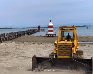 Preparativi spiaggia, Lignano 2020